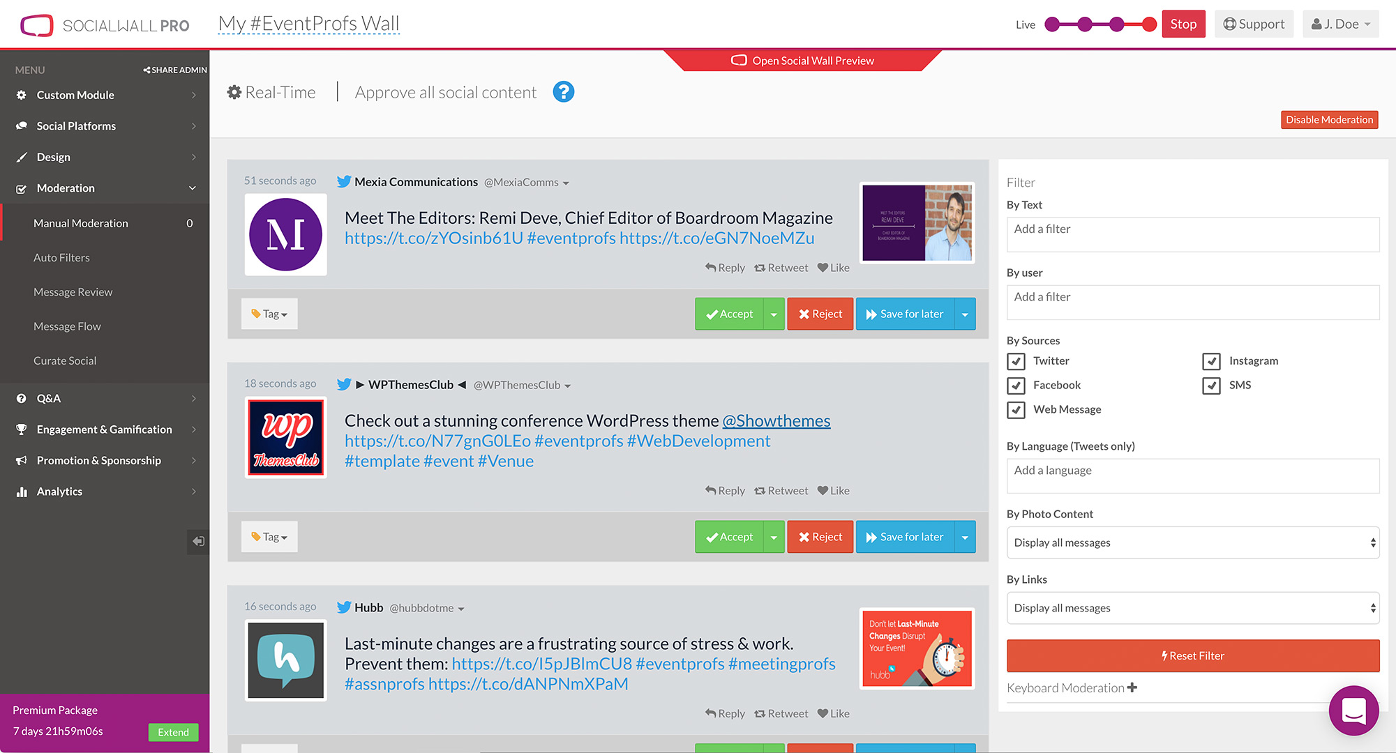 SocialWall Pro screenshot 2